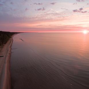 Aerofoto, Kurzemes jūrmala