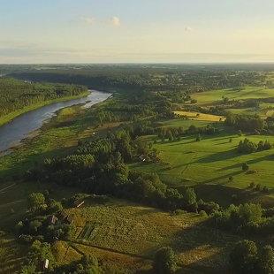 Aerofoto, Daugavas loki